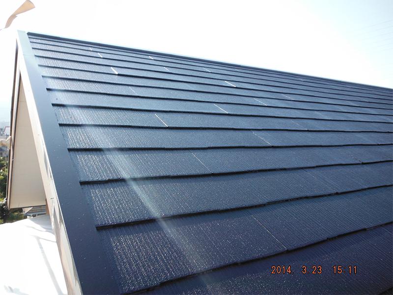 3/23洗浄屋根塗装完了