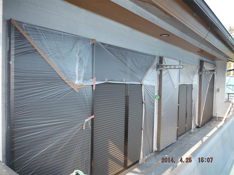 4/25外壁下地塗装開始