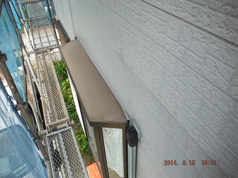 雨漏り出窓改修