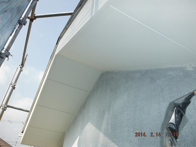 工程⑤ 2/20軒天塗装完了