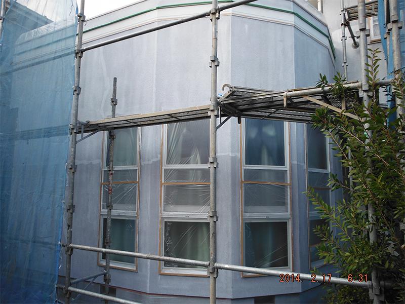 工程⑦ 2/21外壁下地塗装