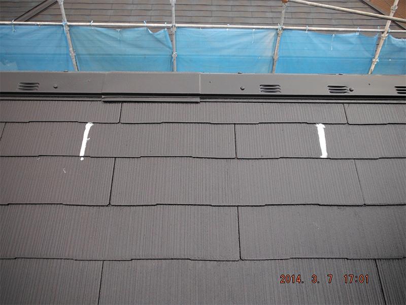 工程⑬ 3/8屋根改修コーキング完了