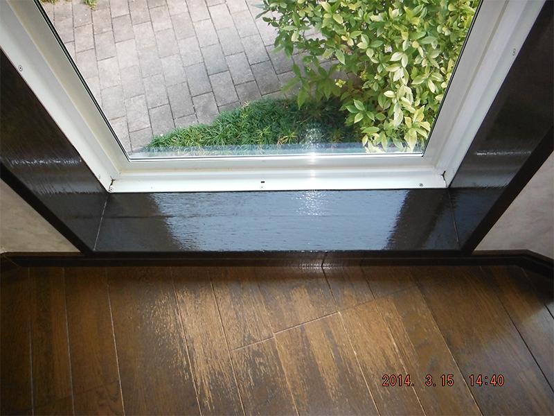 室内窓枠塗装