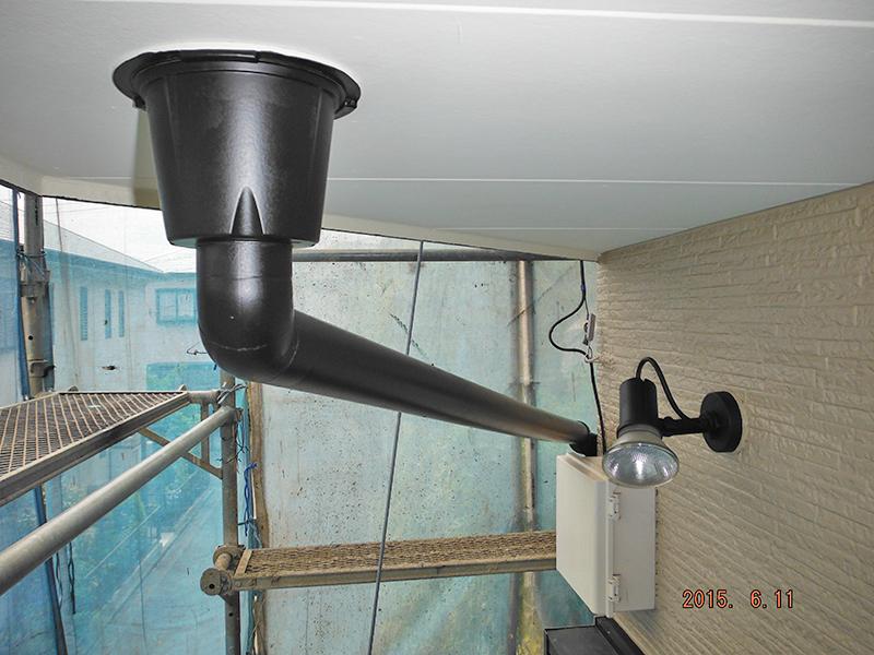 6/11雨樋塗装完了