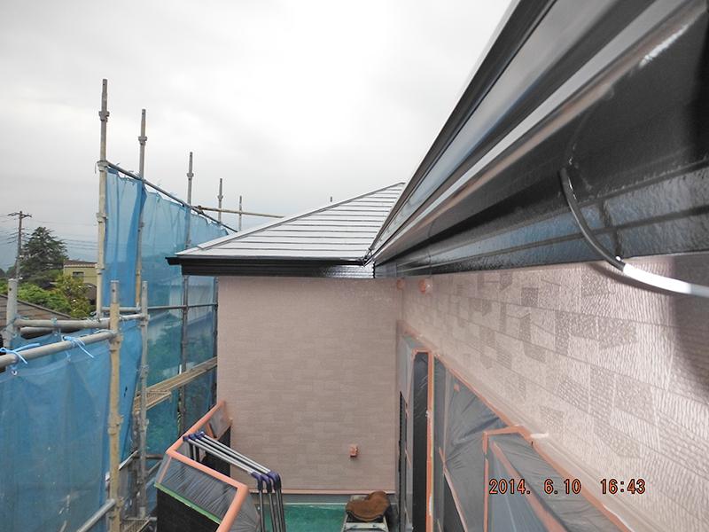6/10破風塗装・雨樋塗装完了