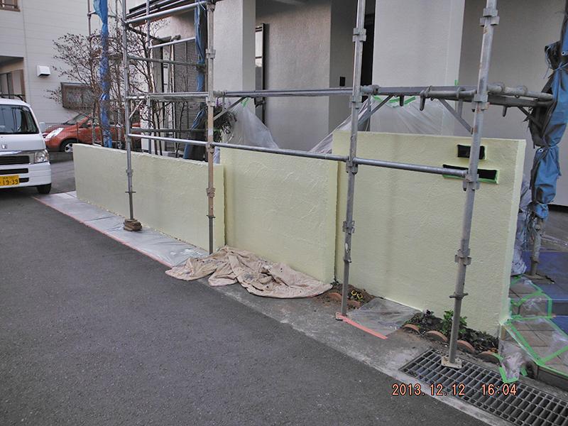 22日目(外構壁下塗り)