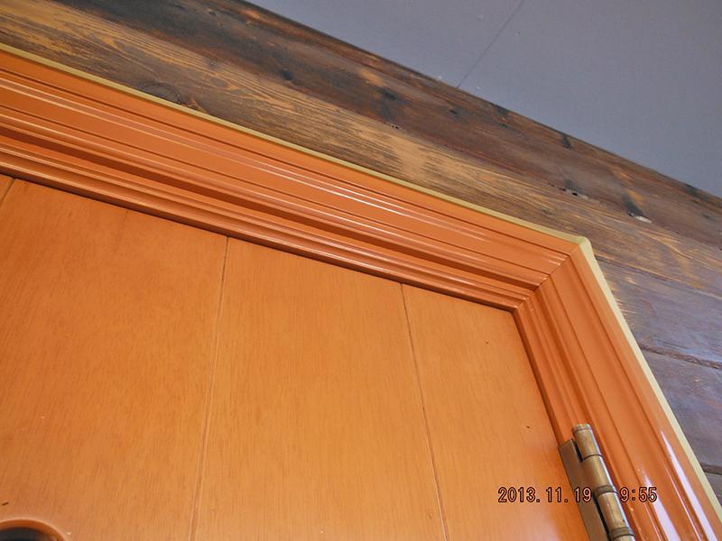 19日目(玄関外枠塗装完了)