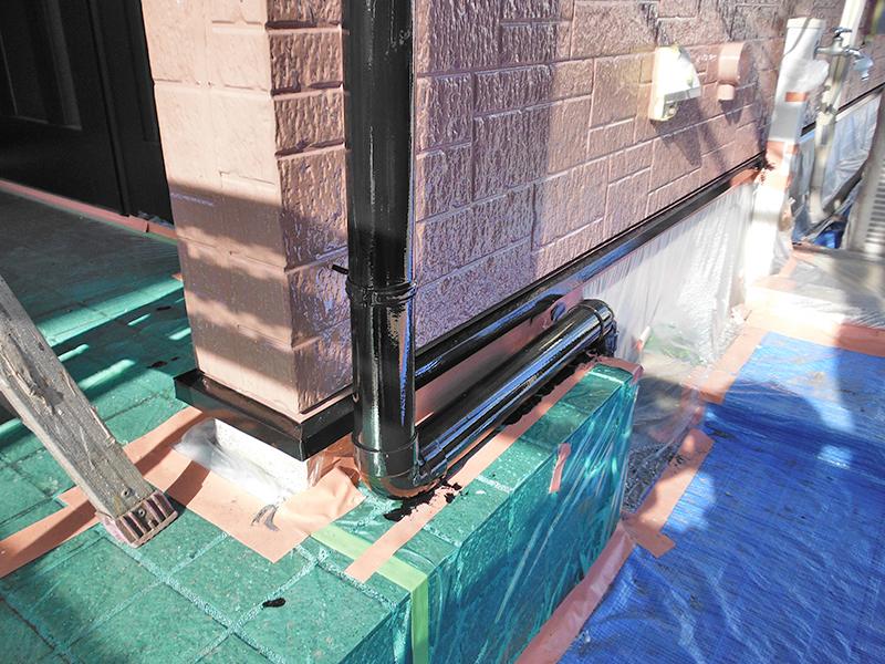 12/17雨樋塗装完了