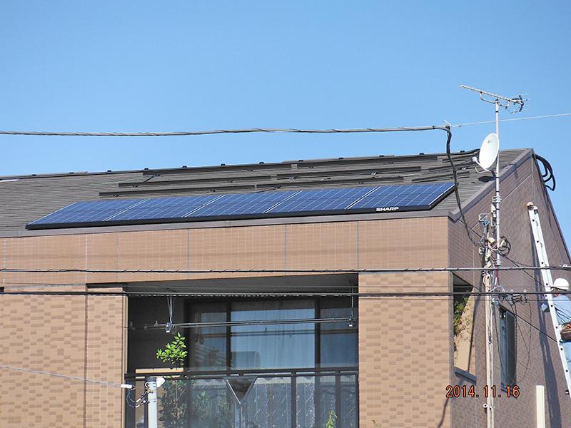 太陽光設置工事3日目