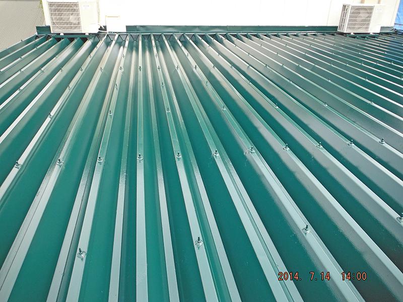 7/14南側屋根塗装完了