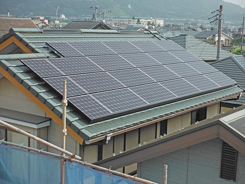 4/21太陽光発電システム設置工事