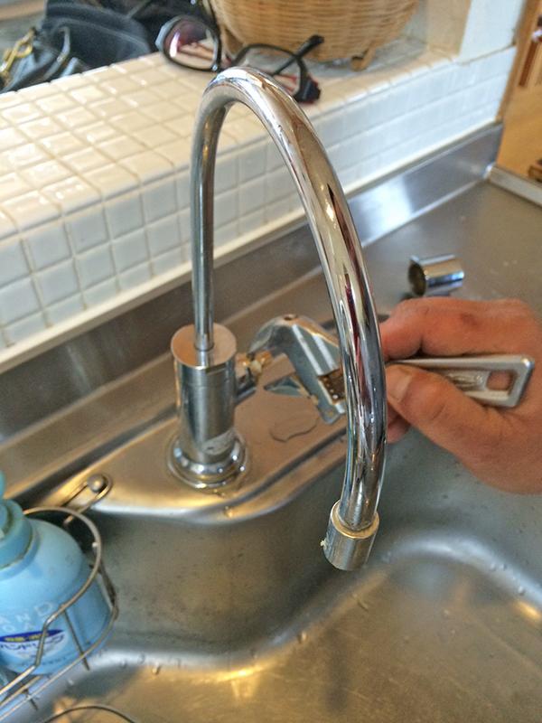 浄水器修理状況