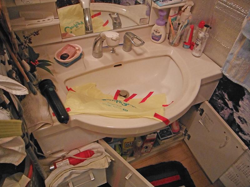 N様邸1階洗面化粧台現況